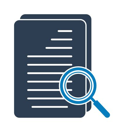 Search In document Icon. Flat style vector Ilustração