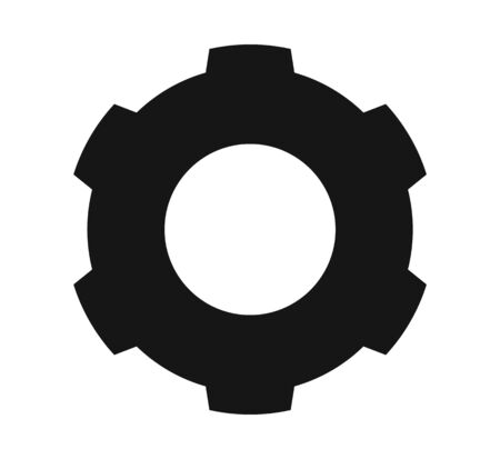 Settings Icon with Gear Symbol. Flat style vector