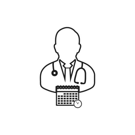 Doctor appointment line icon. Editable vector EPS.