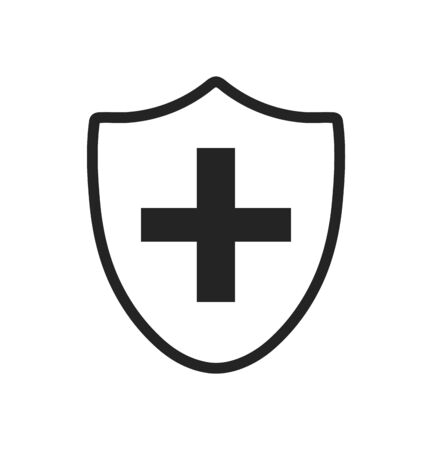 Medical Shield Icon. Flat style vector