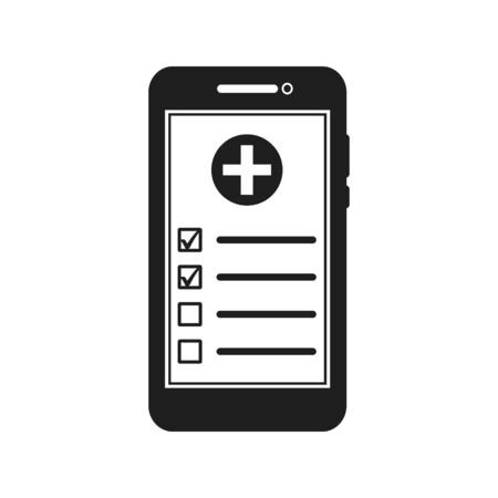 Online Medical Service Icon. Flat style vector EPS. Çizim
