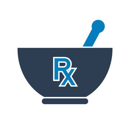 Pharmacy and Medicine Icon. Flat style vector