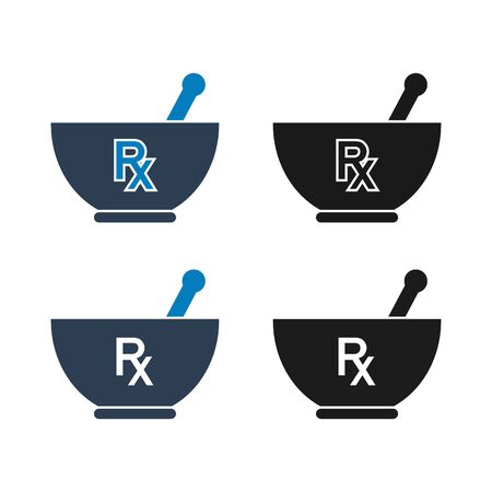 Mortar and pestle icon. Flat style vector EPS.