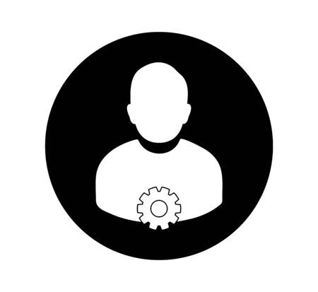 Account Security Icon. Rounded style Button vector EPS. 向量圖像