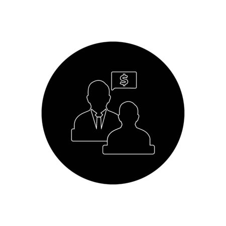 Business, Finance adviser Icon. Rounded Button style vector