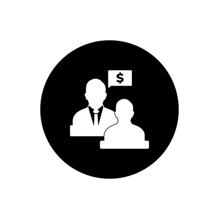 Business, Financial Adviser Icon. Rounded Button Style vector