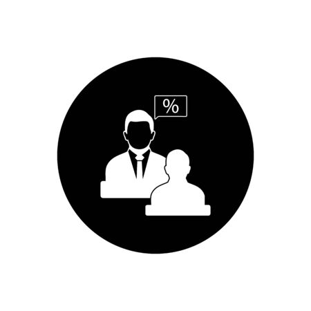 Tax Adviser Icon. Rounded Button Style vector