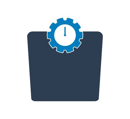 Weight scale icon. Flat style vector EPS. Çizim