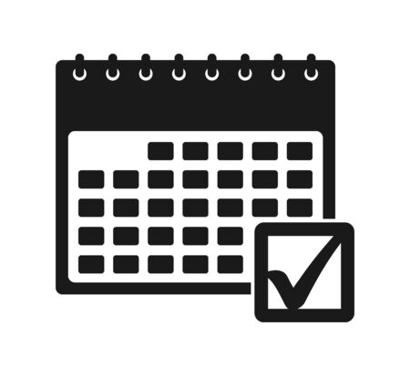 Schedule management icon. Flat style vector EPS.
