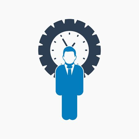 Schedule manager icon. Flat style vector EPS.