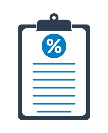 Tax Report Icon. Flat style vector