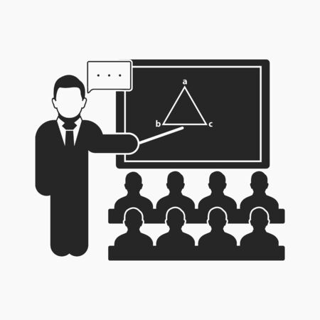Teacher icon. Flat style vector Иллюстрация
