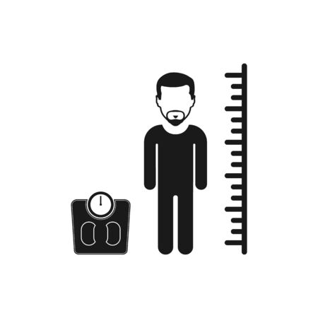Body Mass Index Icon. Flat style vector EPS. Çizim