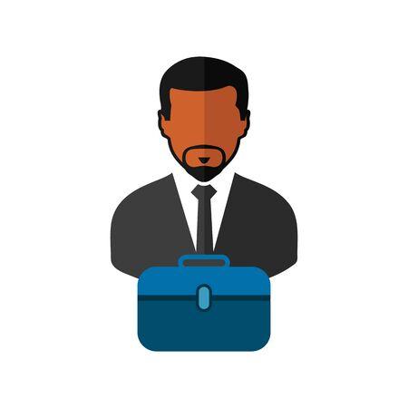 Business man Icon. Flat style vector EPS. Çizim
