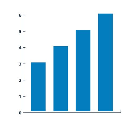 Graph Icon. Flat style vector EPS. Çizim