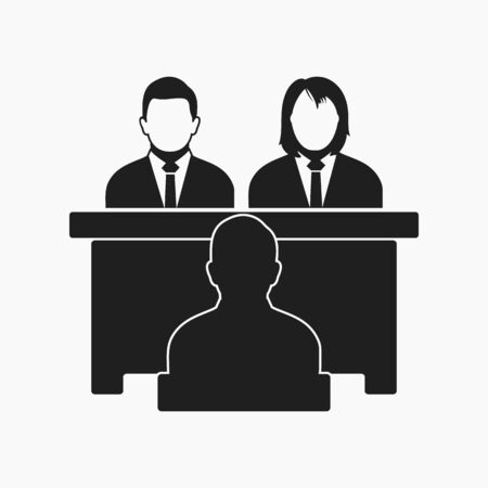 Interview Panel Icon. Flat style vector EPS.