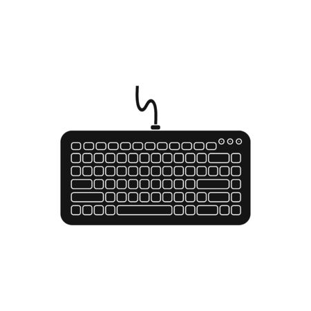 Computer Keyboard Icon. Flat style vector EPS.