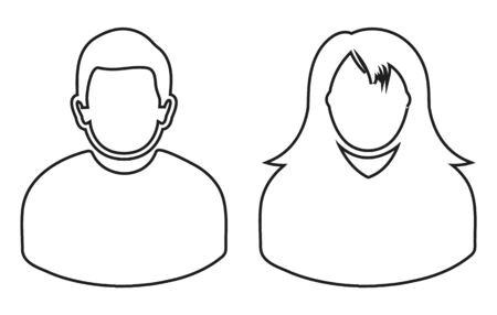 Couple Icon. Line style vector eps.