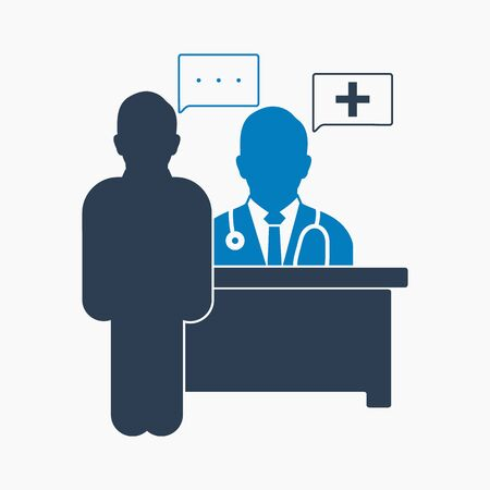Medical consultant icon. Flat style vector .