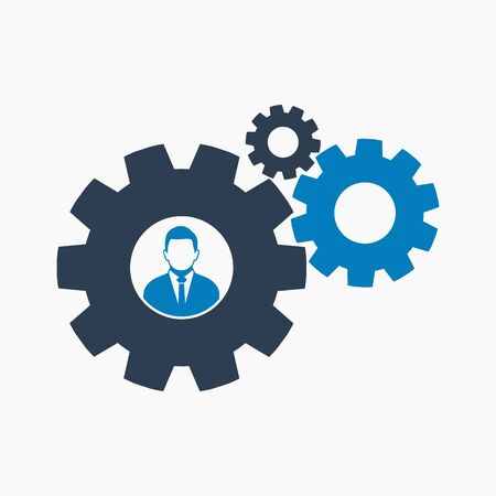 Business solution icon. Flat style vector EPS.