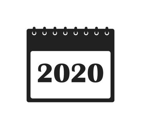 2020 Calendar Icon. Flat style vector EPS. Ilustração
