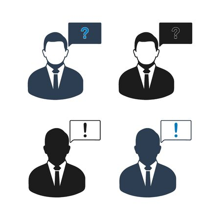 Decision Making Icon set. Flat style vector  .