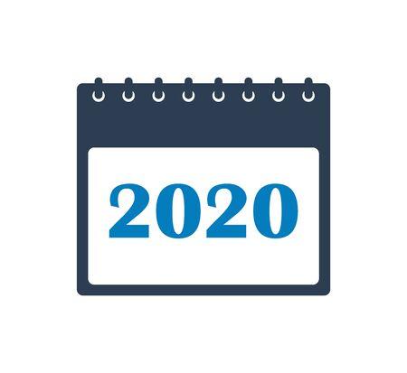 2020 Calendar Icon. Flat style vector Çizim