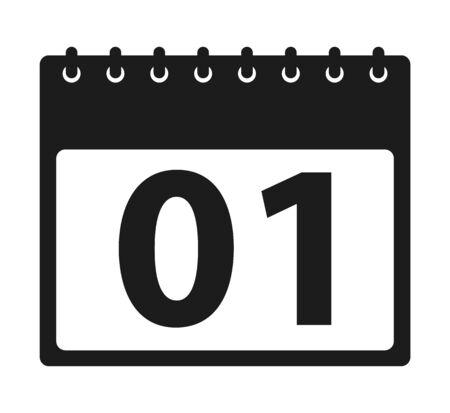 Calendar Icon. Flat style vector EPS. Ilustração
