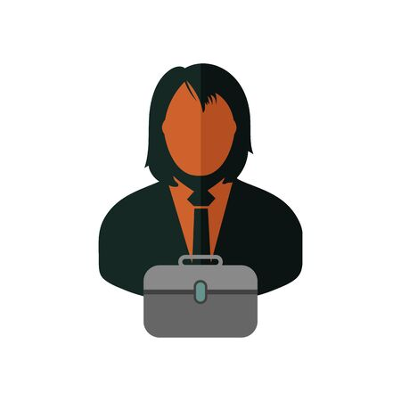 Business man Icon. Flat style vector EPS. Ilustração