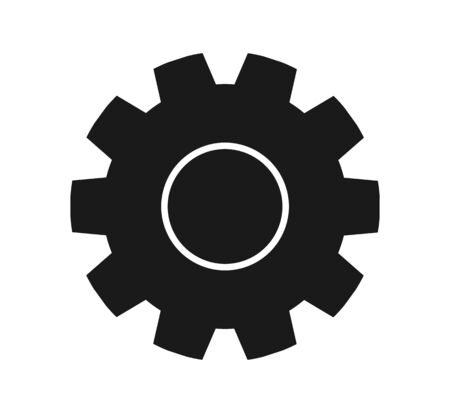 Settings Icon with Gear Symbol. Flat style vector EPS.