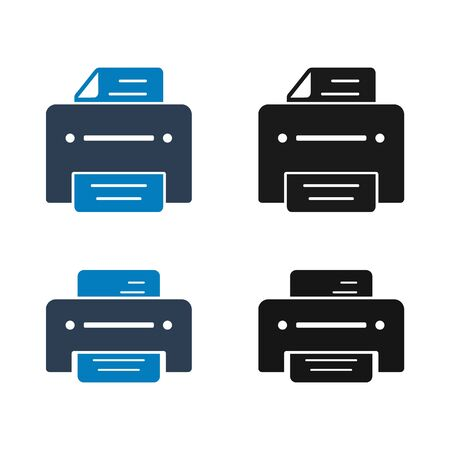 Printer Icon Set. Flat style vector 向量圖像