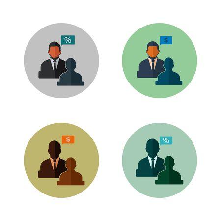 Business Adviser Icon Set. Illustration