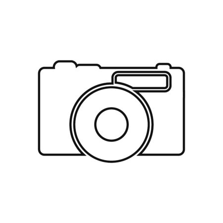 Camera line icon. Flat style vector EPS.