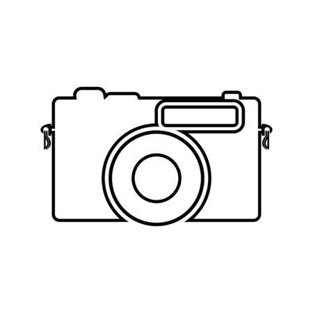 Camera line icon. Flat style Çizim