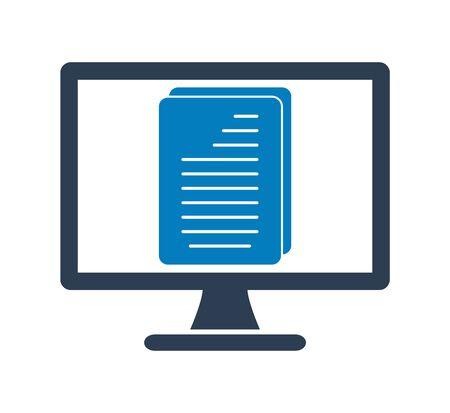 Digital Document Icon. Flat style