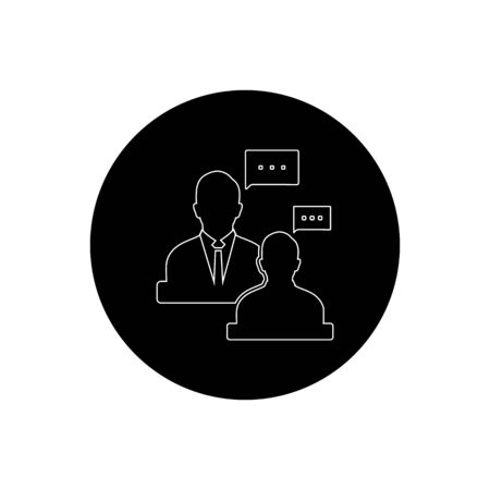 Business, Finance adviser Icon. Rounded Button style