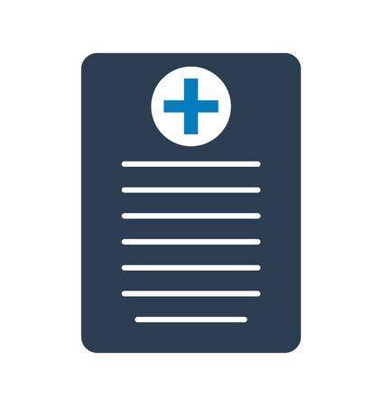 Medical prescription icon.