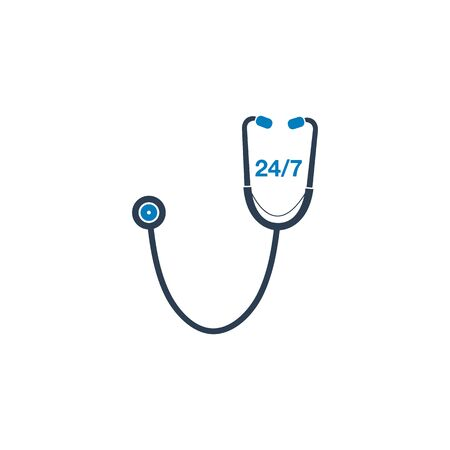 247 Medical Service Icon. Ilustração
