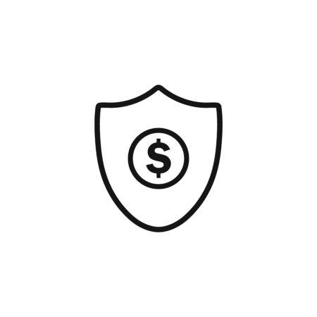 Financial Security Icon. Editable Vector Symbol Illustration.