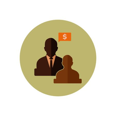 Business Adviser Icon.  Button style vector. Illustration