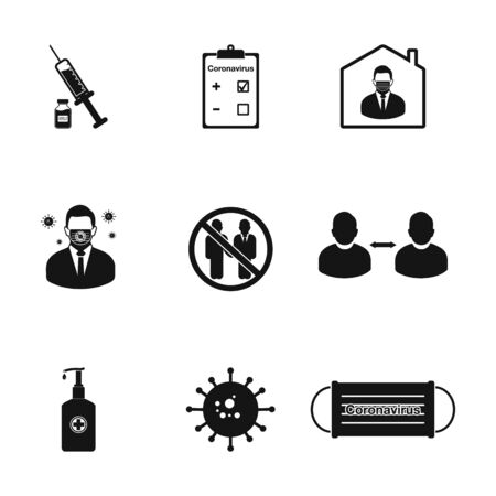 Coronavirus, Covid-19 Related Icon Set. Editable Vector Symbol Illustration. Ilustração Vetorial