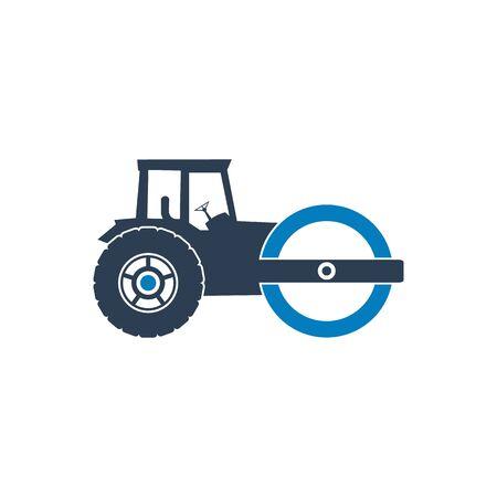 Steam Roller Icon. Flat Style vector EPS. Ilustración de vector