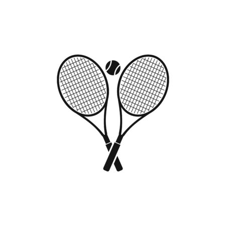 Tennis Racket and Ball Icon. Flat style vector.