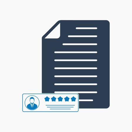 Customer Feedback Icon. Flat style vector EPS. Stock Illustratie