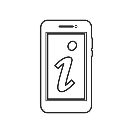 Information Line Icon. Editable Vector Symbol Illustration.