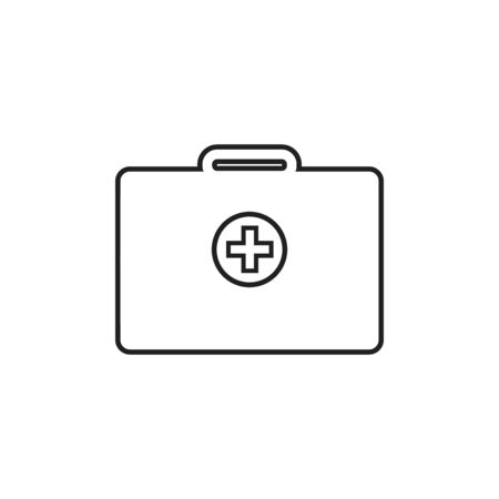 Emergency Medical Service Line Icon. Editable Vector EPS Symbol Illustration.