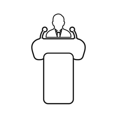 Business Presentation Line Icon. Editable Vector EPS Symbol Illustration.