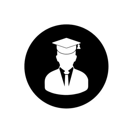 Graduate Student Achievement Rounded Icon. Editable Vector Symbol Illustration.