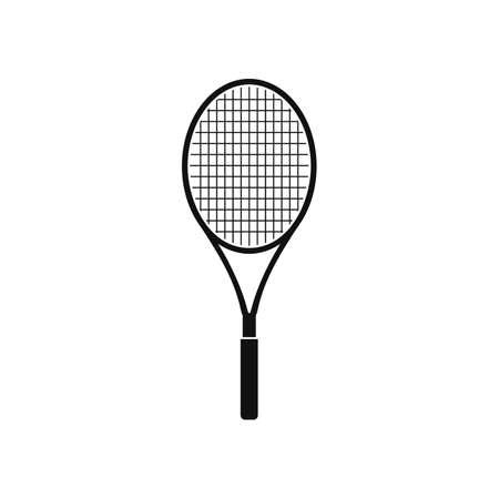 Tennis Racket Icon. Flat style vector .
