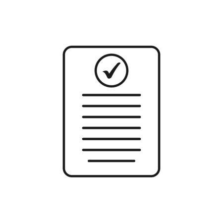 valid Document Line Icon. Editable Vector EPS Symbol Illustration. Vectores
